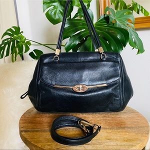 COACH Madison Madeline black leather satchel purse